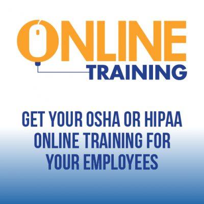 TMC OSHA & HIPAA online training store graphic